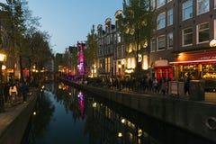 阿姆斯特丹红光区 免版税库存图片