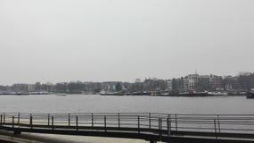 阿姆斯特丹细节运河看法  免版税图库摄影