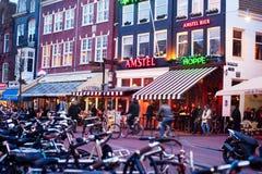 阿姆斯特丹老城镇 免版税库存图片