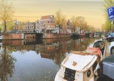 阿姆斯特丹老镇 免版税图库摄影