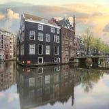 阿姆斯特丹老镇 免版税库存图片