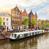 阿姆斯特丹老镇 库存照片