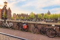 阿姆斯特丹老镇 免版税库存照片