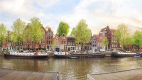 阿姆斯特丹老镇 库存图片