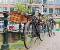 阿姆斯特丹自行车 免版税库存照片