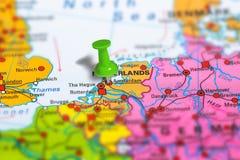阿姆斯特丹荷兰地图 库存照片