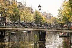 阿姆斯特丹荷兰城市的历史的中心是被建立的larg 免版税库存照片