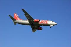 阿姆斯特丹荷兰-第6 2016年:G-CELR Jet2波音737 免版税库存图片