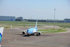 阿姆斯特丹荷兰-第13 2016年:PH-OYI TUI航空公司 库存图片