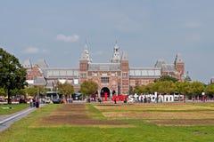 阿姆斯特丹著名rijksmuseum 免版税库存图片