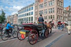 阿姆斯特丹街道和渠道 免版税库存图片