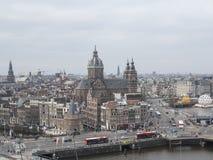 阿姆斯特丹视图 免版税库存图片