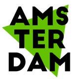 阿姆斯特丹贴纸邮票 免版税图库摄影