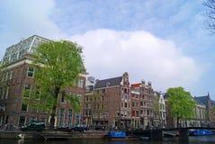 阿姆斯特丹运河和大厦 库存图片