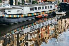 阿姆斯特丹运河在冬天 图库摄影