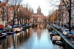 阿姆斯特丹运河 图库摄影