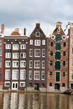 阿姆斯特丹运河房子 库存照片