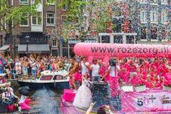 阿姆斯特丹运河游行2014年 免版税图库摄影