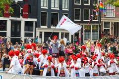 阿姆斯特丹运河游行2014年 免版税库存照片