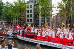 阿姆斯特丹运河游行2014年 免版税库存图片