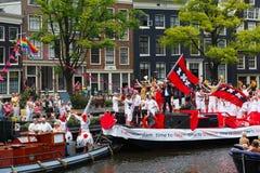 阿姆斯特丹运河游行2014年 图库摄影