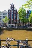 阿姆斯特丹运河系统 免版税图库摄影