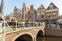 阿姆斯特丹运河街道视图 免版税库存图片