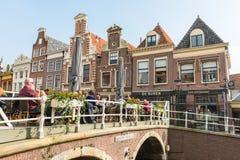 阿姆斯特丹运河街道视图 库存图片