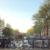 阿姆斯特丹运河街道 免版税库存图片