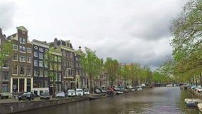 阿姆斯特丹运河,时间间隔 股票视频