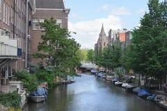 阿姆斯特丹运河 阿姆斯特丹是资本和多数人口众多的市荷兰 图库摄影
