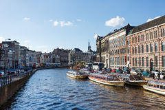 阿姆斯特丹都市风景 库存照片