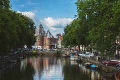 阿姆斯特丹镇 库存图片