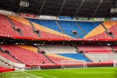 阿姆斯特丹阿贾克斯橄榄球竞技场内部看法  免版税库存照片