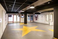阿姆斯特丹阿贾克斯橄榄球竞技场内部看法  库存照片
