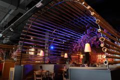 阿姆斯特丹餐馆中国人食物 免版税库存图片