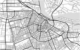 阿姆斯特丹,荷兰城市地图  库存例证
