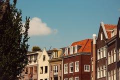 阿姆斯特丹,荷兰大厦  库存图片