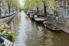 阿姆斯特丹,荷兰运河  库存图片