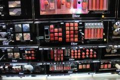 阿姆斯特丹,荷兰,可以,第13 2016年:各种各样的Dior化妆用品产品 库存照片