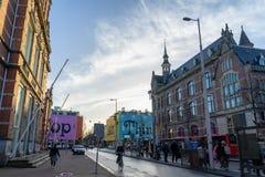 阿姆斯特丹,荷兰- 2018年4月6日:街道摄影在Ams中 图库摄影