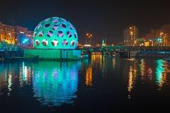 阿姆斯特丹,荷兰- 2013年12月26日:轻的节日上午 免版税图库摄影