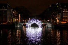 阿姆斯特丹,荷兰- 2017年12月24日-整个孔 免版税库存照片