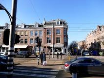 阿姆斯特丹,荷兰- 2016年3月13日:典型的交叉路s 库存图片