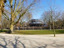 阿姆斯特丹,荷兰- 2016年3月13日:咖啡馆Blauwe theehui 免版税库存图片