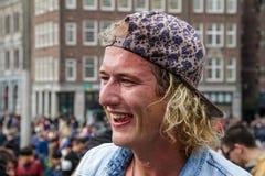 阿姆斯特丹,荷兰- 2016年4月1日:国际枕头战天 库存照片