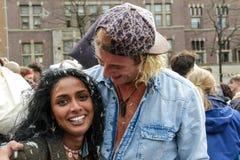 阿姆斯特丹,荷兰- 2016年4月1日:国际枕头战天 图库摄影