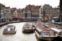 阿姆斯特丹,荷兰- 2015年8月18日:在Rokin的看法 图库摄影