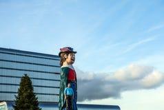 阿姆斯特丹,荷兰- 2016年1月10日:巨大的可笑图在阿姆斯特丹临近2010年1月10日- Netherland的购物中心 免版税库存照片