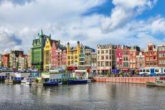 阿姆斯特丹,荷兰- 2015年9月15日:美丽的景色  免版税库存图片